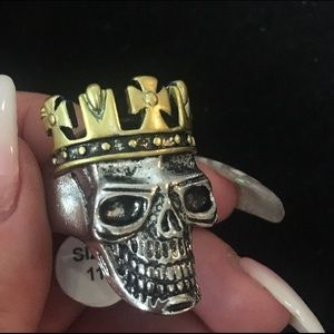 Jewelry - Stainless steel, size eleven, biker ring